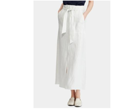 RALPH LAUREN Womens White Pinstripe A-Line Skirt Size 4 NEW - $74.99