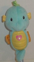 """Fisher Price Soothe & Glow Blue Musical Seahorse Oc EAN Wonders 12"""" Plush Toy - $9.99"""
