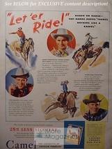 1942 RARE Esquire Advertisement AD CAMEL Cigarettes all round cowboy FRITZ TRUAN - $14.00