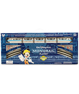 disney parks mickey & friends monorail blue train playset new with box - $105.28