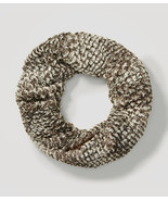 Ann Taylor LOFT Scarf  Winter Brownish Gray Faux Fur Infinity One Size S... - $22.76
