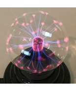 "Plasma Ball Lightning Lamp Desktop Sphere Globe Light Up 5"" Black Clear ... - $14.99"