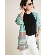 NWT ANTHROPOLOGIE ASHBORO AMO STRIPED CARDI SWEATER by ALDOMARTINS S - $145.49