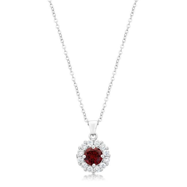 Primary image for Bella Bridal Pendant in Garnet Red