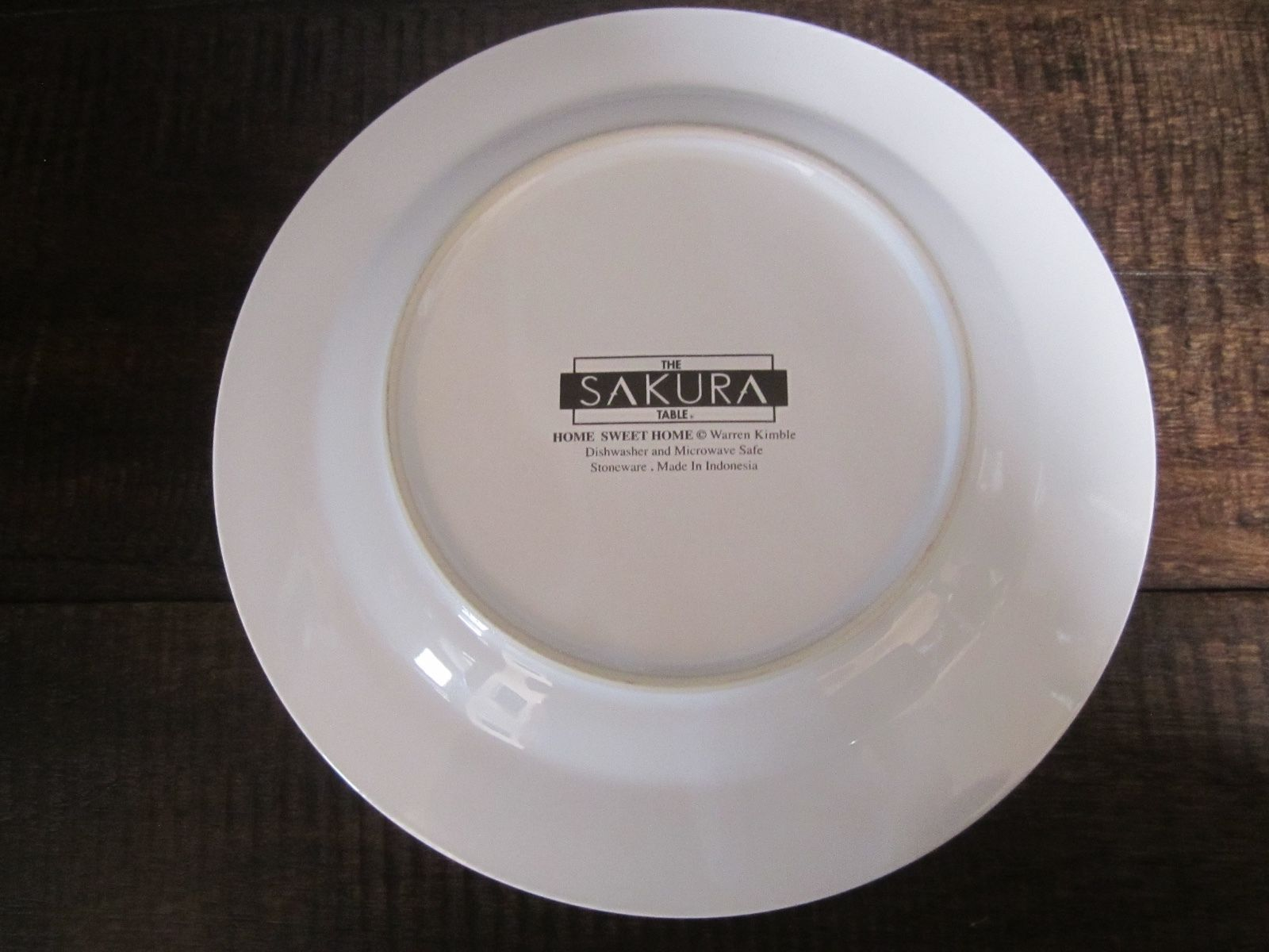 ... Sakura - Warren Kimble Home Sweet Home Folk Art Stoneware Salad Dessert Plate ... : warren kimble dinnerware - Pezcame.Com
