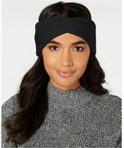 DKNY Donna Karan Twisted Ribbed Knit Headband, Black - $16.83