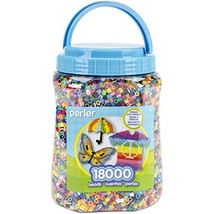 Perler Beads Bulk Assorted Multicolor Fuse Beads for Kids Crafts, 18000 pcs - $24.70