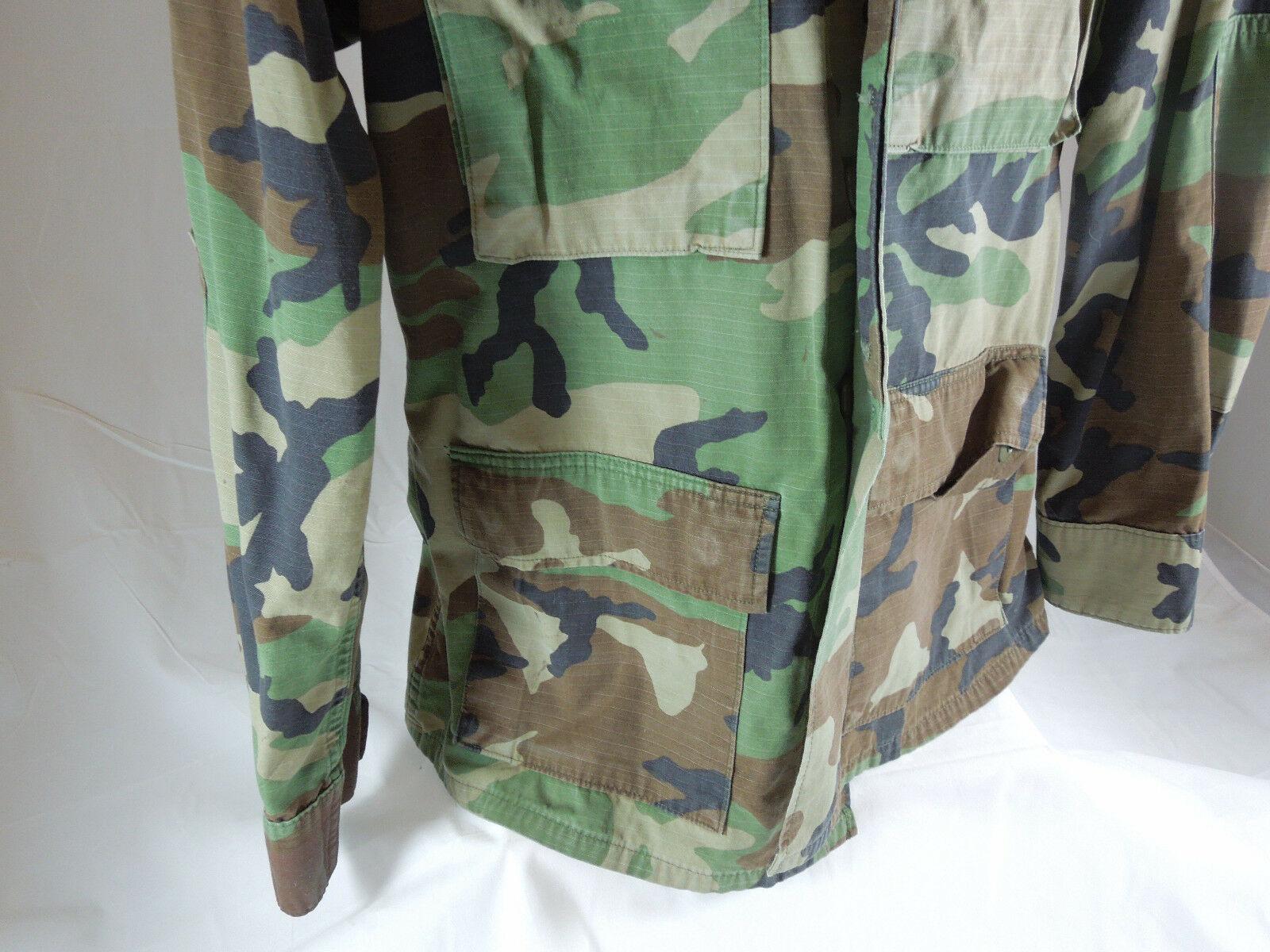 US AIR FORCE Mens Green CAMOUFLAGE JACKET Field Fatigue Size Medium regular
