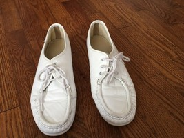 SAS Bounce White Leather Lace Ups Sneakers Shoes Size 9M - $23.36