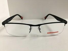 New PRADA Sport VPS 52F DG0-1O1 Black 54mm Semi-Rimless Men's Eyeglasses... - $149.99
