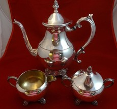 3 Piece Silverplate Coffee Set by F.B. Rogers S... - $50.15