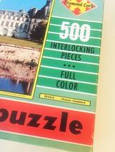 "Vintage 50s Warren Diamond Lock Picture Puzzle- #500 ""FRANCE: Chateau Chambord""  image 4"