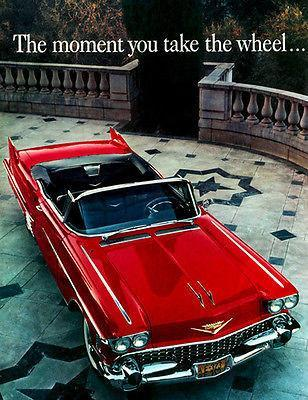 Primary image for 1958 Cadillac The Moment You Take the Wheel - Promotional Advertising Poster