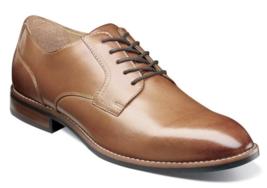 Nunn Bush Fifth Ave Flex Plain Toe Oxford Shoes Cognac 84805-221 - $72.91
