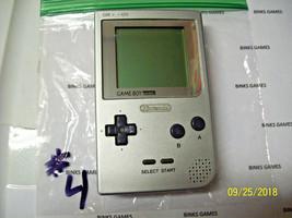 Nintendo GameBoy Pocket Platinum Silver Handheld System #4 - $39.99