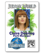 CLAIRE DEARING JURASSIC WORLD NAME BADGE PROP HALLOWEEN COSPLAY MAGNET BACK - $14.84