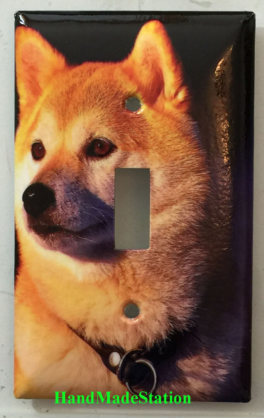 Akita dog Toggle Rocker Light Switch Power Outlet Wall Cover Plate Home decor