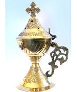 Christian Byzantine Orthodox Greek Censer Incense Burner Liturgy (N2) - $37.52