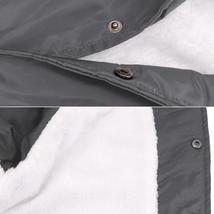 Men's Windbreaker Lightweight Waterproof Sherpa Button Up Athletic Coach Jacket image 5