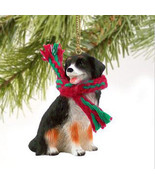 BERNESE MOUTAIN  DOG  CHRISTMAS ORNAMENT HOLIDAY  Figurine Scarf - $9.50