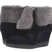 ASH Brandy wedge shearling boots black 39 | 9 NEW - $186.07
