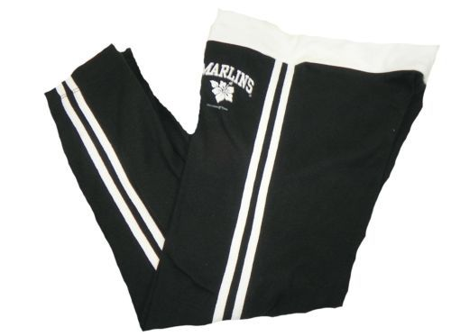 Junior Women's Miami Marlins Capri Pants MLB Lounge Baseball NEW