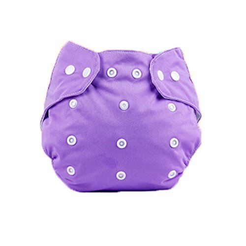 Baby One Size Leak-free Diaper Cover With Snap Closure (3-13KG,Purple)