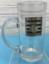 National Baseball Hall of Fame Beer Glass Mug Cup Pewter Emblem Vintage ... - $19.89