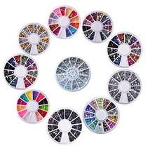 Biutee 10 Wheels nail art decor accessories Nail Rhinestones Premium Man... - $10.74