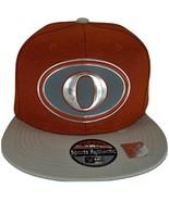 Ohio O Oval Style Cotton Snapback Baseball Cap (Red/Light Gray) - $12.95