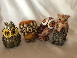 Mixed Lot 4 Owl Vintage Figurines - $49.49
