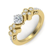 1 CT Round Solitaire Diamond Engagement Ring Solid 14kt Yellow Gold D/VVS1 - $373.07