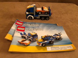 5765 LEGO Complete Creator Transport Truck 3 in 1 helicopter instruction... - $24.50