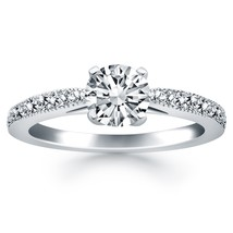 14k White Gold Diamond Pave Cathedral Engagement Ring - $2,242.50
