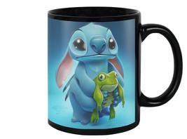 Cute Stitch With Frog Coffee Tea Drink Milk Mug... - $17.75