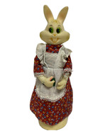 Vintage Bunny Rabbit Plastic Doll Easter Coin Bank Decorative made in Ho... - $32.98