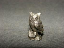 """Pewter Figurine: Owl 1"""" Bea-Line - $12.00"""