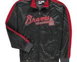 MLB Atlanta Braves Men's Big & Tall Gray Full Zip Tricot Reflective Track Jacket - $37.95