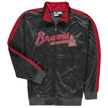 MLB Atlanta Braves Men's Big & Tall Gray Full Zip Tricot Reflective Track Jacket - $39.95