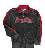 MLB Atlanta Braves Men's Big & Tall Gray Full Zip Tricot Reflective Trac... - $34.95+
