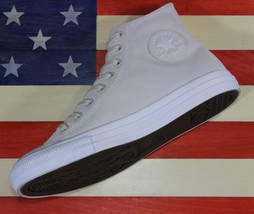Converse Sample Chuck Taylor ALL-STAR Hi Plush Suede White Shoe [157519C] Mens 9 - $71.10