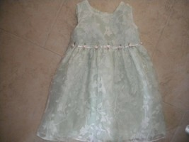 Perfectly Dressed Baby Girls Size 12 Months Mint Floral Roses Girls East... - $4.94