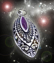Haunted Pendant Solomon Sun Exteme Power Djinn Genie Vessel Magick Cassia4 - $232.77