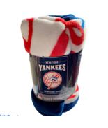 NEW YORK YANKEES SUPER PLUSH RASCHEL BLANKET THROW SOFT NWT MLB LICENSED - £17.28 GBP