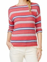 NWT American Living Ralph Lauren Red Blue Striped Knit Sweater Boat Neck Top M - $14.99