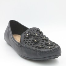 Isaac Mizrahi Live Women Moccasins Hope US 9W Black Leather With Floral ... - $30.82