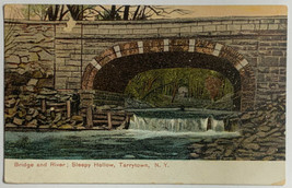 Old Rare Divided Postcard Bridge & River, Sleepy Hollow, Tarrytown, NY 1... - $19.55