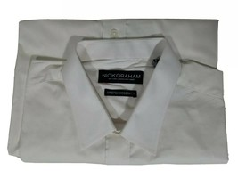 Nick Graham Modern Fit Dress Shirt Size L 16-16 1/2 32-33 Men's White N7... - $9.99
