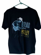 Brad Paisley Country Nation Tour Mens Hanes Graphic T-Shirt Black Crew N... - $9.89