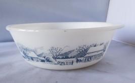 Glasbake Currier & Ives 2 Quart Bowl Serving Mixing Casserole Kitchen Ho... - $26.71
